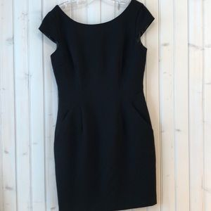 Calvin Klein black fitted lined dress Sz 8
